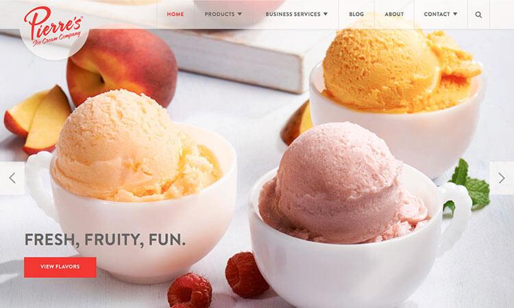 página web heladeria
