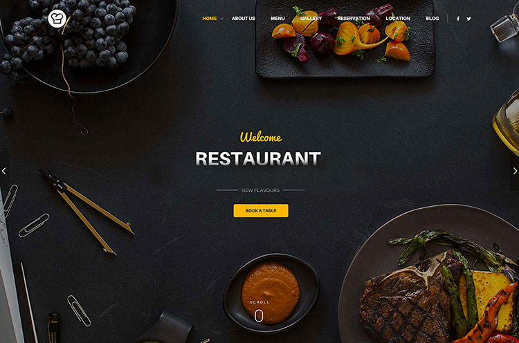 pagina web restaurante
