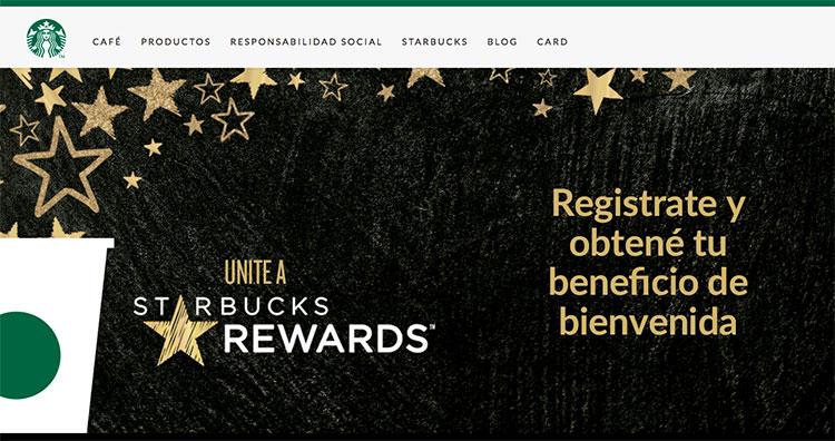 página web cafetería