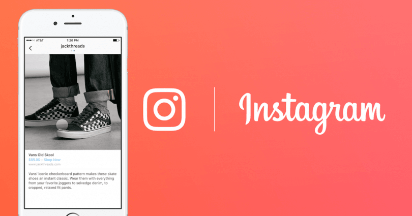 Instagram shopping header