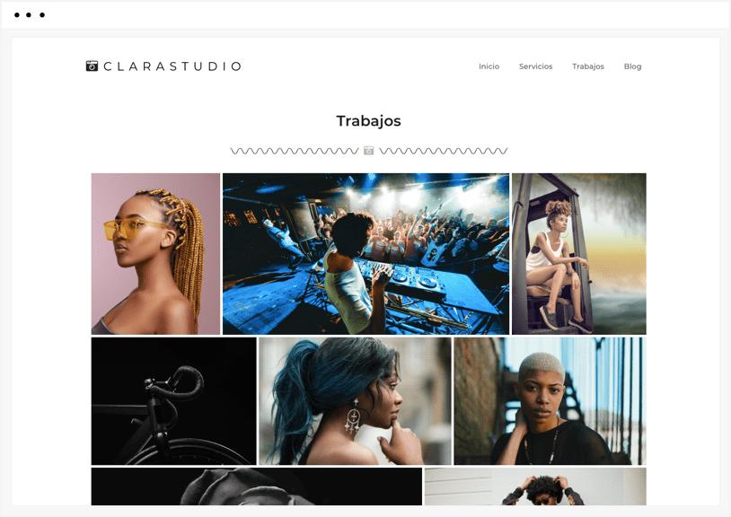 diseño web profesional portafolio